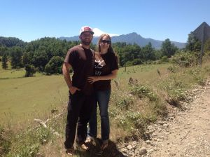 Danielle and I with Villarica Volcano in the background. This is near where we stayed for the CC Family Camp