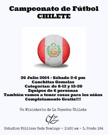 Chilte Campeonato Poster Final