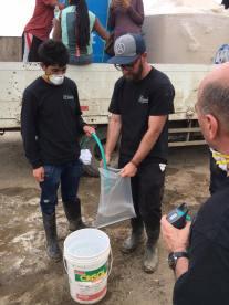 Filling Water bag